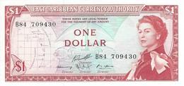 EAST CARIBBEAN STATES 1 DOLLAR ND (1974) P-13g UNC S/N B84 709430 [ECS101c10] - East Carribeans