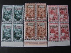 """ITALIA Trieste AMG-FTT -1953- """"Fiera Trieste"""" Cpl. 3 Val. Quartina MNH** (descrizione) - Nuovi"""
