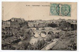 """THOUARS -1906-- Vue Générale  N° 358  éd   D.B (Dando-Berry) Cachet Ambulant-""""Bressuire à Thouars"""".........à Saisir - Thouars"""
