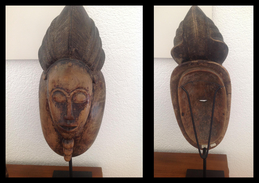 ANTICA MASCHERA AFRICANA Con Piedistallo - Arte Africana