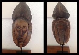 ANTICA MASCHERA AFRICANA Con Piedistallo - Art Africain