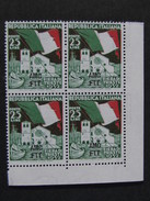 """ITALIA Trieste AMG-FTT -1952- """"Fiera Trieste"""" £. 25 Quartina MNH** (descrizione) - Nuovi"""