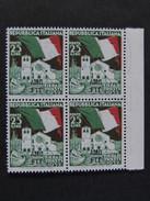 """ITALIA Trieste AMG-FTT -1952- """"Fiera Trieste"""" £. 25 Quartina MNH** (descrizione) - Ungebraucht"""