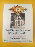 2783- Suisse Valais St-Leonard Pour Hôtel Sternen Gurtellen - Etiquettes