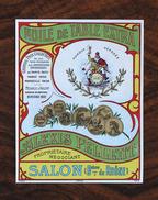 Ancienne Étiquette Huile, Salon Bouches Du Rhône, Gambrinus (bière), Années 1900 - Publicités