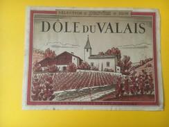 2789- Suisse Valais Dôle Provins Ancienne étiquette - Etiquettes