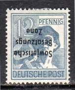 12 Pfennig Kopfstehend Inverted Opt. 186K MH Very Fine GENUINE (rz5) - Zone Soviétique