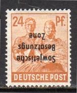 24 Pfennig Kopfstehend Inverted Opt. 190K MH Very Fine GENUINE (rz6) - Zone Soviétique