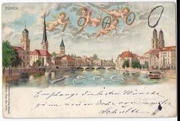 Jahrhundertwechsel 1899-1900 In ZÜRICH, Stempel: 31.12.1899 - Nouvel An
