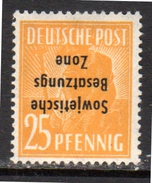 25 Pfennig Kopfstehend Inverted Opt. 191K MH Very Fine GENUINE (rz6) - Zone Soviétique