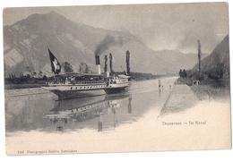 Dampfschiff Bubenberg Im Kanal Bei Thun Schweiz 1904 - Paquebots