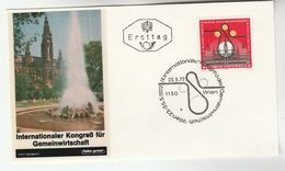 1972 Special AUSTRIA FOTO  FDC ECONOMIC CONGRESS  Stamps SPECIAL Pmk  Cover - FDC