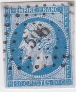 N° 14 A    PC  596  CAMPAGNE-LES-HESDIN   /  PAS DE CALAIS   -   LOT  LIG37     INDICE 6 + VARIETE POSTFS  1er état - 1853-1860 Napoléon III