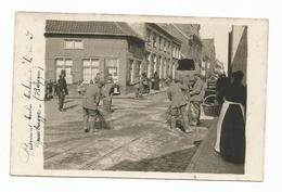 Belgique Roosbrugge Prisonniers Allemands Qui Balayent Roesbrugge Haringe - België