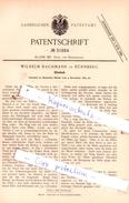 Original Patent - Wilhelm Bachmann In Nürnberg , 1884 , Hand- Und Reisegeräthe !!! - Historische Dokumente