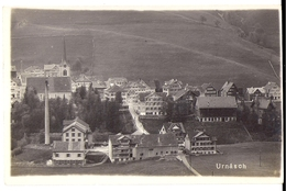 URNÄSCH: Teilansicht Mit Fabrik, Echt-Foto-AK ~1920 - AR Appenzell Rhodes-Extérieures