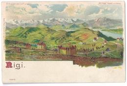 HALT GEGEN LICHT: Meteor-AK Vom RIGI Schweiz ~1900 - Hold To Light