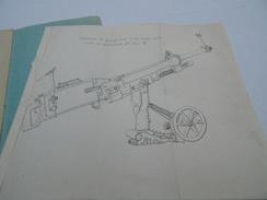 Confidentiel 1918 Manuel Instruction Et L'emploi Du Correcteur Pour La Mitrailleuse D'infanterie Contre Avions Hotchkiss - 1914-18