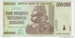 ZIMBABWE 500000 DOLLARS 2008 P-76 UNC  [ZW167a] - Simbabwe