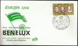 Belgium Brussel 1964 / Benelux Dynastie Museum / 20 Years Of United Customs - Familias Reales