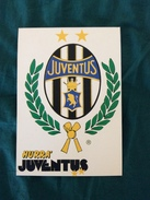 Cartolina Con Lo Stemma Della Juventus Allegata A Hurrà Juventus Anni '80 - Calcio