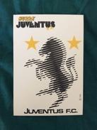 Cartolina Con La Zebra Stilizzata Della Juventus Allegata A Hurrà Juventus Anni '80 - Calcio