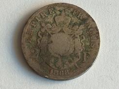 FRANCE 2 Francs 1868 A  - Silver, Argent Franc - France