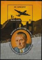 St Vincent 1993 Konrad Adenauer Berlin Airlift, 1 SS Mnh - Idées Européennes