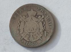 FRANCE 2 Francs 1869 A  - Silver, Argent Franc - France