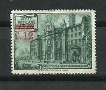 Vaticano. 1952_Basílica De La Santa Cruz En Jerusalem - Unused Stamps