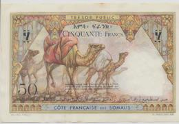 FRENCH SOMALI COAST P. 25 50 F 1952 AUNC - Djibouti
