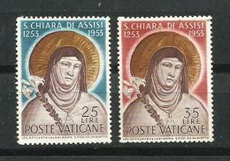 Vaticano. 1953_7º Centenario De La Muerte De Santa Clara. - Vaticano (Ciudad Del)