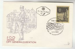 1966 AUSTRIA FDC Anniv POST & TELEGRAPH GENERALDIRECTION   Stamps SPECIAL Pmk  Cover Telecom - Telecom