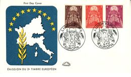 LUXEMBOURG  1957 EUROPA CEPT FDC - Europa-CEPT
