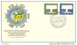 GERMANY 1957 EUROPA CEPT FDC ( Bonn 1 D ) - Europa-CEPT