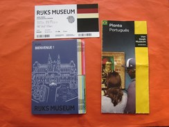 Biglietto>Billet Ticket D'entrée Ruks Muséum Musée Hollande Pays-Bas Amsterdam Toegang+dépliant Guide To+planta Portuges - Toegangskaarten