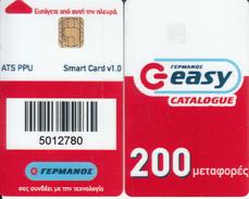 GREECE - Germanos Employee Card(large Number), Used - Andere Sammlungen