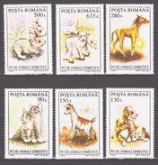 Romania 1994 Rumänien Mi 5055-5060 Young Domestic Animals. Dogs. Cats / Haustiere **/MNH - Hauskatzen