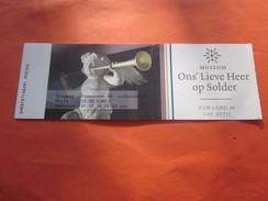 Ons' Lieve Heer Op Solder Muséum-Musée Soldat Biglietto Old Paper>Ticket D'entrée Bevijs>Entry Billet Amsterdam Europe - Toegangskaarten