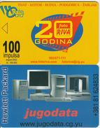 MONTENEGRO - Foto Riva, Jugodata/Hewlett Packard, 08/02, Sample(no Chip, No CN)