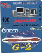 MONTENEGRO - Jugodata/Hewlett Packard, Pilot Pens, Tirage 70000, 06/01, Sample(no Chip, No CN) - Montenegro