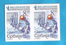 2005   WATER POLO SERBIEN SRBIJA   JUGOSLAVIJA JUGOSLAWIEN  SPORT  RRR  IMPERFORATE  RRR  MNH