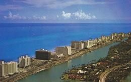 FLORIDA---RARE---MIAMI BEACH--aerial View Of Hotels Along Indian Creek---voir 2 Scans - Miami Beach