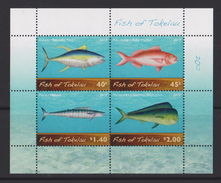 Tokelau Block Mi 48 Fish Of Tokelau - Kakahi (Thunnus Albacares) - Palu Malau (Etelis Carbunculus) - Paala (Acanthocybiu - Tokelau