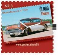 Aland Stamp Watch - Briefmarken Uhr - Nr. 3 - Vintage Cars - Buick Super 4C HT 1957 - 2005 - Juwelen & Horloges
