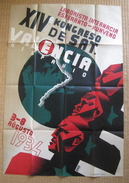 Poster About The 14th SAT Conference In Valencia 1934 - Afiŝo Pri 14a SAT-Kongreso En Valencio En 1934 - Affiches