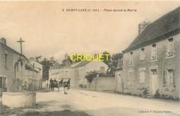 44 Ste Luce, Place Devant La Mairie, Animée, Charrette Attelée...., Carte Peu Courante - Otros Municipios