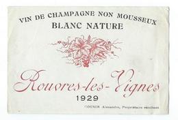 Champagne - Rouvres-les-Vignes - 1929 - Champagne