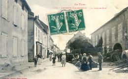 Valence D'Albigeois - La Grande Rue Un Jour De Foire - Valence D'Albigeois