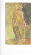 Dessin (Lithographie): Les Deux Papalou D'Antoine Bourdelle - Double Autoportrait Mi-ange, Mi-chèvre 1929 - Estampes & Gravures